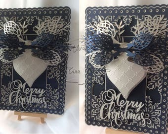 Merry Christmas Baubke Card  TF0162, SVG,MTC,CAMEO,Scal,ScanNCUT,Cricut