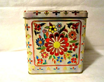 Tea Tin, English Tea Tin, Decorative Tea Tin