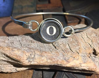 O typewriter key bracelet