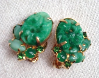 Juliana Peking Glass Jade Earrings