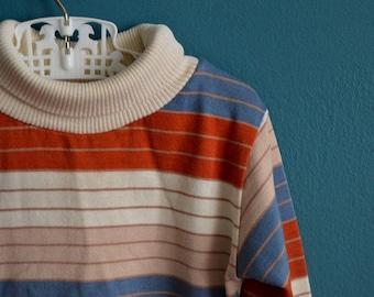 Vintage 1980s Boy's Striped Turtleneck - Size 3T