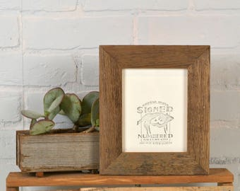 4.75 x 6 Picture Frame in Rustic Natural Reclaimed Cedar - In Stock - Same Day Shipping - Unique Rustic Picture Frame 4.75x6 inches