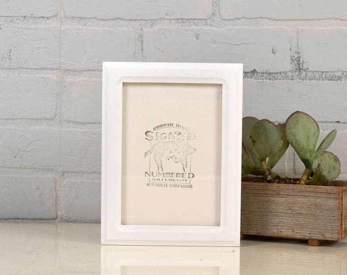 5x7 Picture Frame in Double Cove Style with Solid White Finish - IN STOCK - Same Day Shipping - 5 x 7 Frame Solid Hardwood