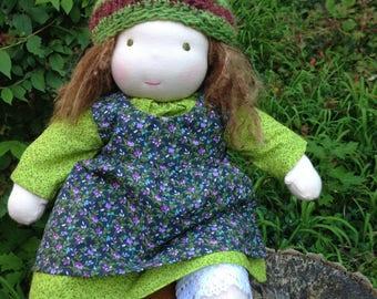 Custom Waldorf Baby Doll Waldorf-inspired Baby Doll 12 - 14 inch