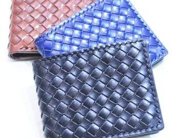 Ho-Ho-Sew Genuine Leather Weaved Short Wallet with ID Window Purse DIY Kit