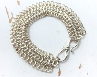 Do What You Love - Chainmaille - European 4-in-1 Bracelet in Sterling Silver