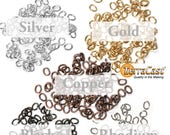TierraCast Medium Oval Open Jump Rings / 100 Pack / 20 GA Gauge / 3 x 4mm ID / choose from gold, silver, black, antique copper, rhodium