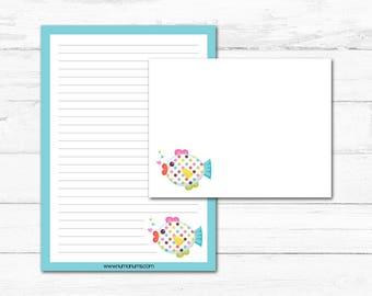Stationery Set - somethin' fishy - letter writing
