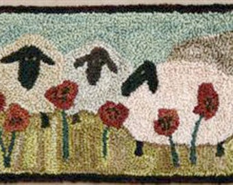 Sheep Sunday Social 624 Punchneedle Punch Needle Threads That Bind Pattern