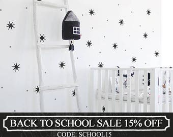 Star Dot Wall Decal Stickers - Vinyl Wall Sticker, Nursery Decor, Kids Decals