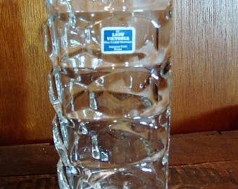 Lady Victoria Crystal Vase from France Crystal Triangle Vase 3 Sided