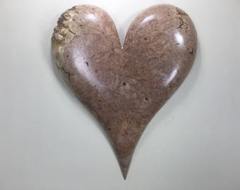 Carved wood wall heart Personalized 50th Anniversary present gift