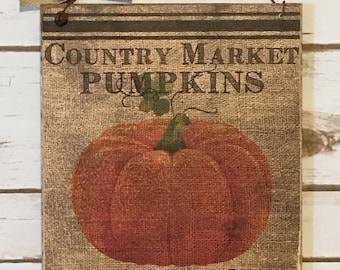 Primitive Pumpkin Sign, Fall Decor,Autumn Decor, Fall Pumpkin, Rustic Fall Sign, Halloween Decoration, Pumpkin Decor