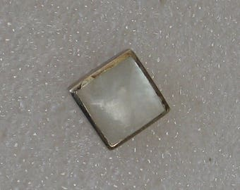 11mm Square Shell   Sterling Silver  Post Earring SINGLE