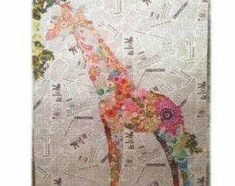 Potpourri Giraffe Collage