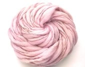Super bulky handspun yarn, spun thick and thin in hand dyed merino wool - 50 yards, 3.2 ounces/91 grams