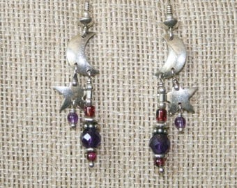 Tabra Moon and Star Earrings plus Free USA Shipping!