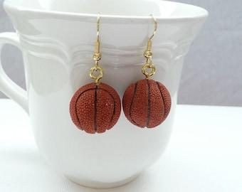 nd-Resin 3D Basketball Dangle Earrings