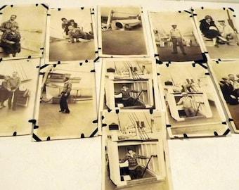 Cruise Ship Photographs Vintage Black and White