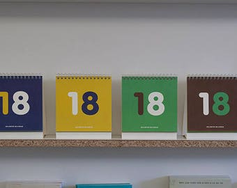 2018 Mini Desk Calendar in 4 colors