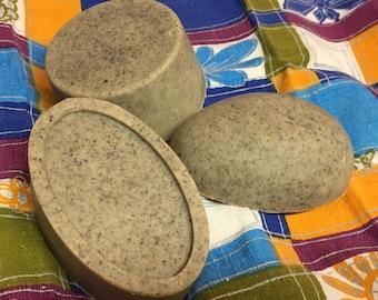Savon à la soie Roche de pieds, pieds rugueux, exfoliant, pierre ponce, exfoliating, feet treatment