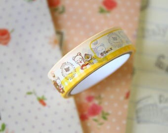 08 Rilakkuma Bear Cartoon Washi Masking Tape