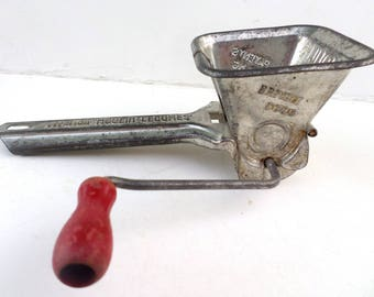 Vintage RED Handled Cheese Grater Mouli Persil Made in France
