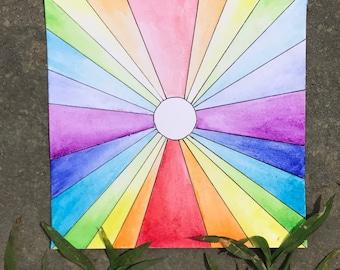 Spectrum of Rainbow Light