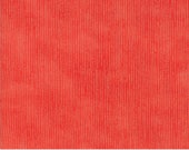 Coral Blender Fabric - Blushing Peonies Peony - Moda 48615 12 -  Coral Striped Fabric - Yard Cut BTY - Robin PIckens
