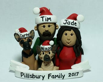 Custom 4 Figure Family Ornament