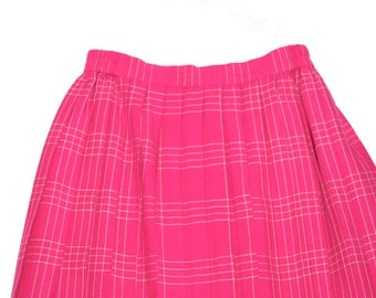 Pretty in Pink Wool Pleated Skirt- Size S/ 4 US