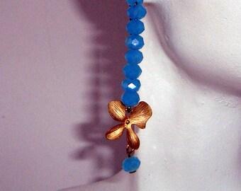 Artisan Glass and Enamel Bar Earrings - Funky Earrings - Beautiful Colors - Purple Lampwork Beads, Gypsy Bohemian Design