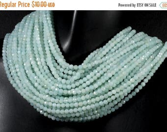 ON SALE Amazonite Beads Faceted Rondelles Calibrated Amazonite Roundels Rondels Earth Mined Gemstone - 3mm - 6.5-Inch Strand