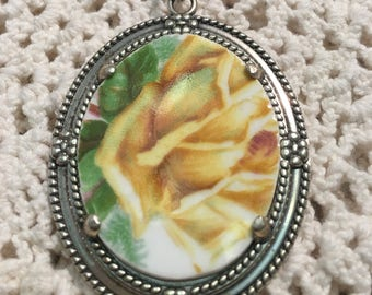 Broken China Pendant Sterling Silver