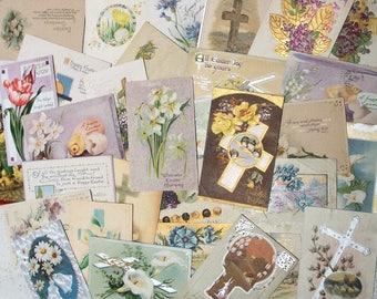 70 Postcards - Vtg Easter Cards