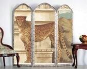 Exotic Cheetah 1:24 Half Scale Dollhouse Room Screen Miniature scr002