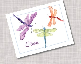 Custom Dragonfly Note Cards