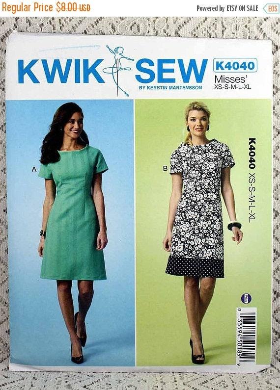 ON SALE Kwik Sew 4040, Misses\' Dress Sewing Pattern, Dress Pattern ...