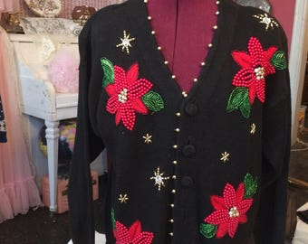 Fabulous Beaded Christmas Sweater