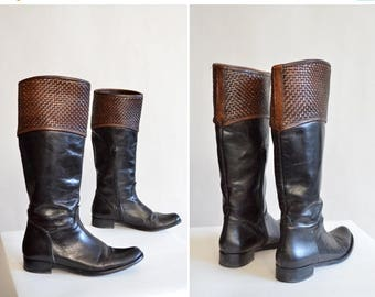 25% off Storewide // Vintage SAVIO made in italy boots / 7