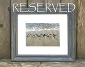 Reserved for Debbie- Beach Word Photography, Dance Beach Wish Sentiment, 5x7 Photo with Mat and Frame, dance photo, word art, dance cards