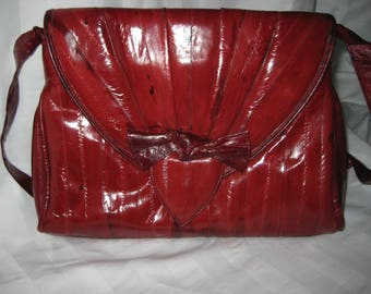 Eel skin purse and wallet
