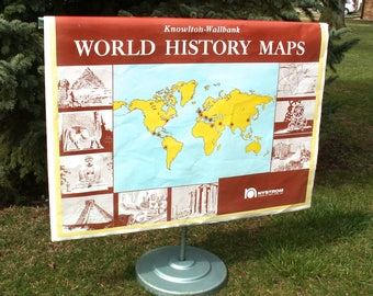 Vintage AJ Nystrom Knowlton Wallbank World  History 32 Page Map Set Flip Chart Local PICK UP only
