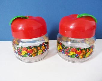 Vintage glass storage jars