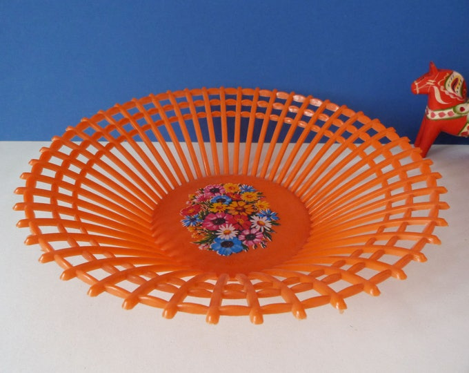 1970s vintage Plastic fruit bowl