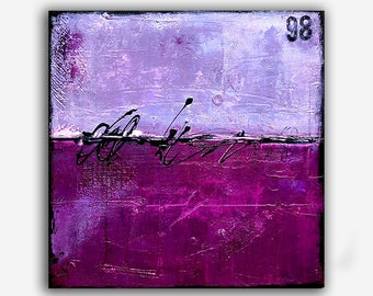 Purple Abstract Painting Canvas Original Art