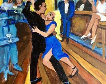 Tango Azul, limited edition giclee