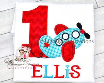 Boy 1st Birthday Shirt - Airplane Birthday Shirt, Custom Boy Plane, Boys Airplane Party, 1st Birthday Boy Outfit, Airplane Shirt