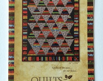 """Pike's Peak quilt pattern - Annemarie S. Yohnk for Quilts Remembered - 21"""" x 25 1/2"""""""