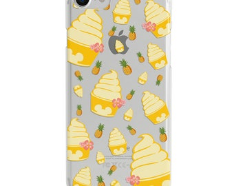 Pineapple Dole Whip Clear Disney iPhone Case